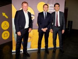 P Begay, E Macron et N Dufourcq BIG BPI
